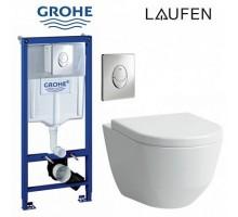 Комплект инсталляции GROHE + унитаз LAUFEN PRO +  клавиша + сиденье