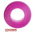 Труба для теплого пола KOER PEX-B EVOH 16x2 мм (PINK)